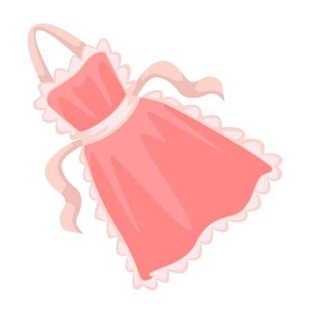 Apron for kitchen, housewife cooking accessory, isolated icon