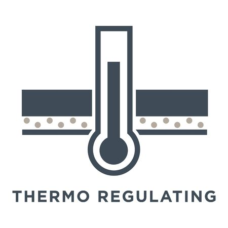 Window or glass properties isolated icon, thermoregulation feature