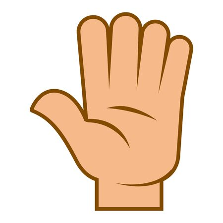 Human hand greeting gesture or stop sign vector