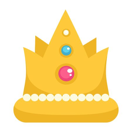 Crown with gemstone and decor, royal sign