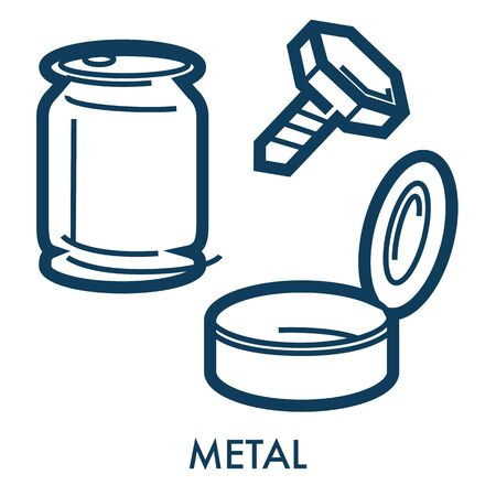 Metal objects made of steel or iron, garbage or waste