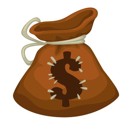 Moneybag with dollar sign, payment or savings icon Ilustracja