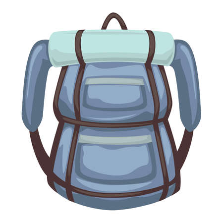 Rucksack with mat for sleeping, traveling and camping