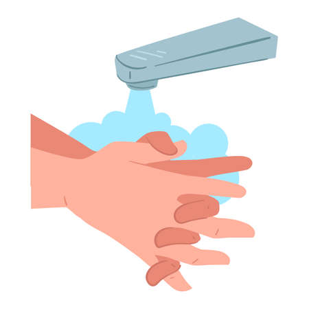 Washing hands info, personal hygiene and care during coronavirus Illustration