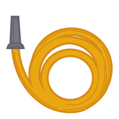 Rubber gardening hose for watering and irrigation vector