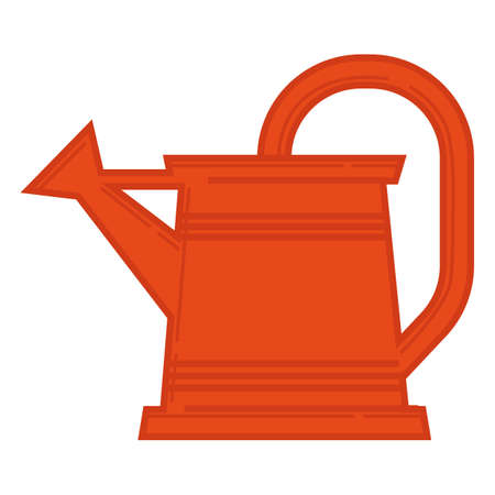 Watering can, care for plants in garden vector 일러스트