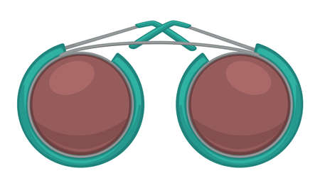 Circled sunglasses, unisex trendy accessories for summer vector Illustration