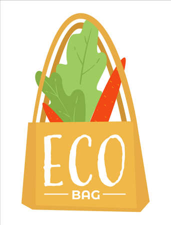 Eco bag made of fabric cloth, ecologically friendly packet