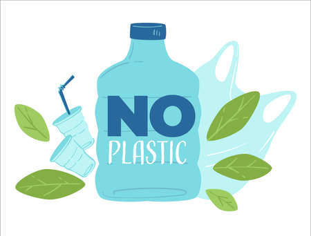 No plastic, zero waste and saving planet from garbage