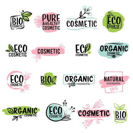 Eco cosmetics and organic production, ecological product labels