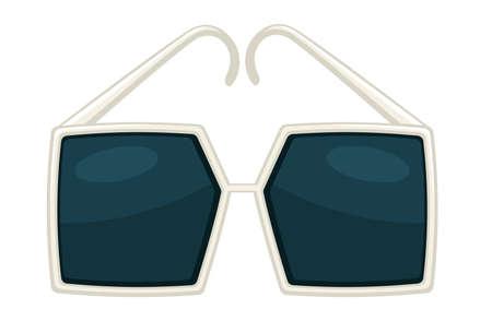 Square retro sunglasses, retro eyewear fashionable accessories vector