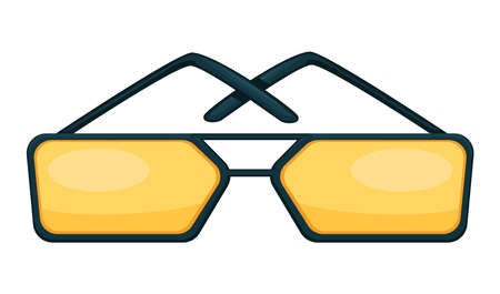 Toned glasses, square shaped sunglasses trendy accessories vector