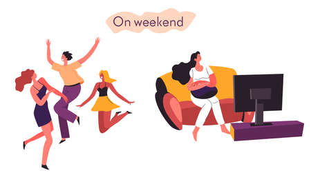 Extrovert and introvert comparison of time on weekends