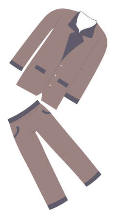Pajamas for men, trousers and shirt, home clothing Ilustração