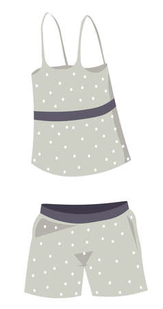 Pajama for females, top and shorts for sleeping