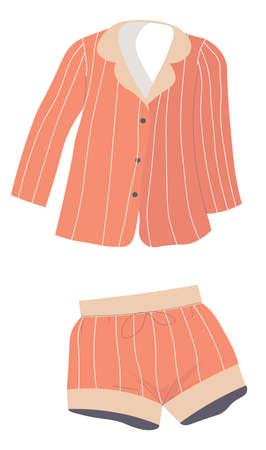 Pajama set of shorts and tshirt, unisex sleepwear