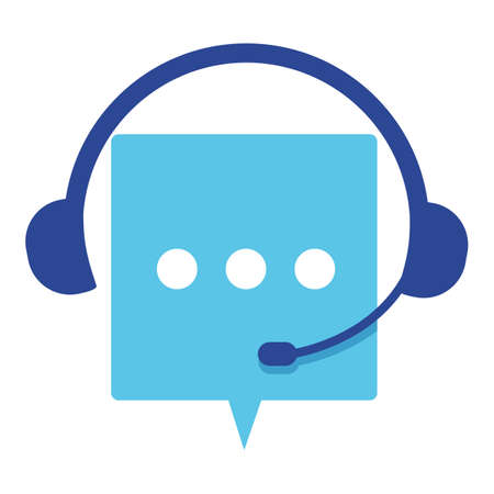 Customer support service, headset and chatting box banner