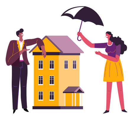 Real estate and property insurance, protecting buildings and houses