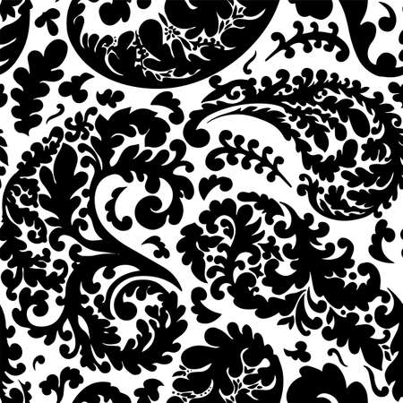 Leaves and botanical branches with foliage seamless pattern