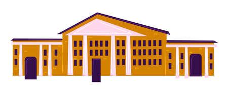 Educational establishment, school or university exterior design vector