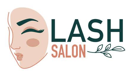 Eyelash extension salon, beauty studio for women vector