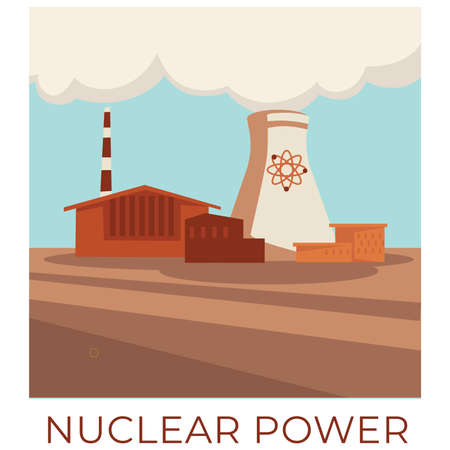 Nuclear power, station producing energy and electricity vector
