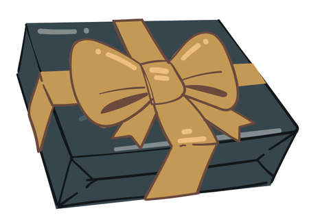 Present in box, greeting with holidays giving gifts