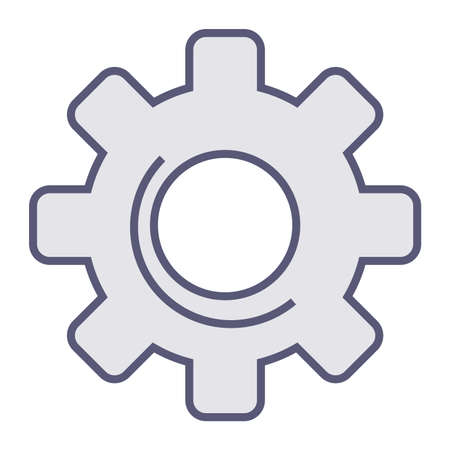 Gear mechanism, processing or loading icon, progress vector