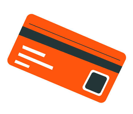 Credit card with info of owner, banking and paying