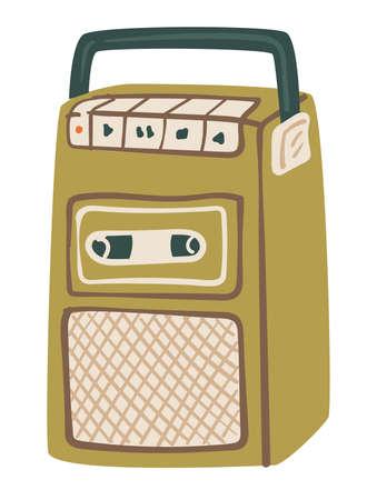 Vintage magnetophone or cassette recorder system