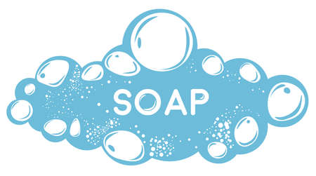 Soapsuds laundry or bath soapy bubbles, hygiene and cosmetics