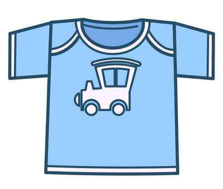 Boyish t shirt with car or locomotive, kids clothes