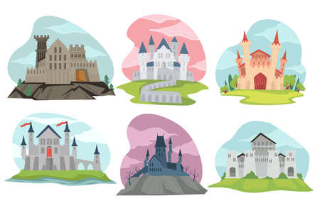 Castles and fortresses medieval architecture view