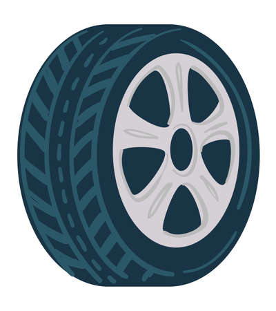 Tyre for cars made of rubber, mechanics shop icon