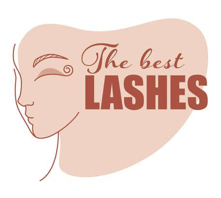 Best lashes, beauty studio extension of eyelashes