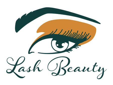 Lash beauty salon, cosmetic procedures in studio Vettoriali