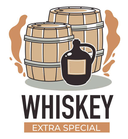 Whiskey extra special production of alcohol vector