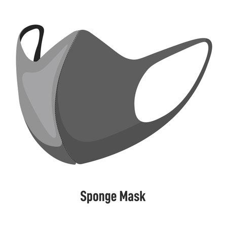 Sponge mask, reusable face covering covid pandemic