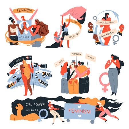 Feminist movements, girls against discrimination