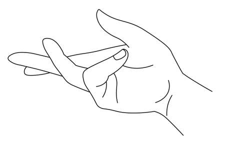 Hand showing sign, gesturing arm with fingers