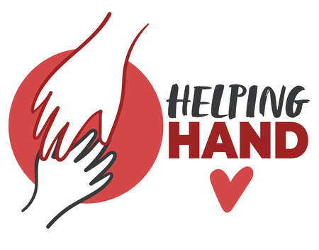 Helping hand, voluntary organization help and care