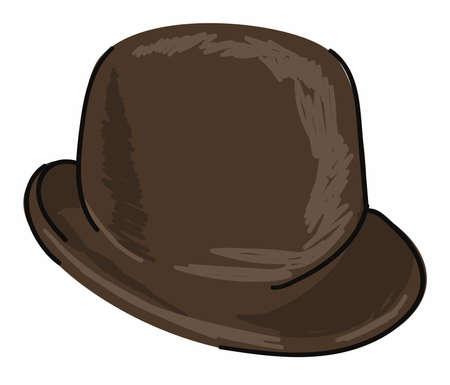 Headwear for men, black vintage retro hat for boys Ilustración de vector