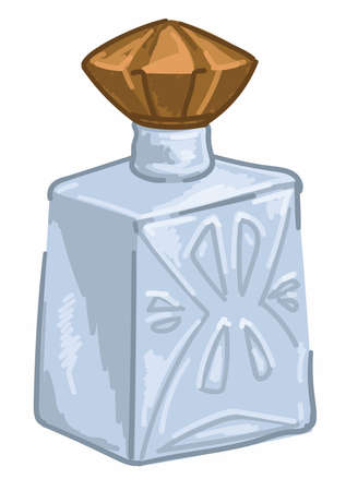 Perfume in bottle vintage aromatic water fragrance
