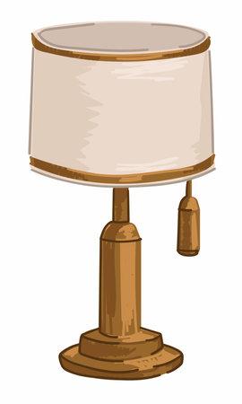 Vintage retro lamp, furniture for home interior