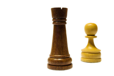 david brown: White pawn against the black rook Stock Photo