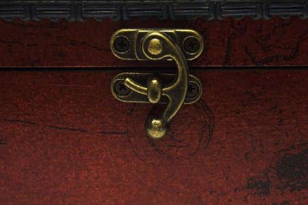 Antiquarian chest lock.