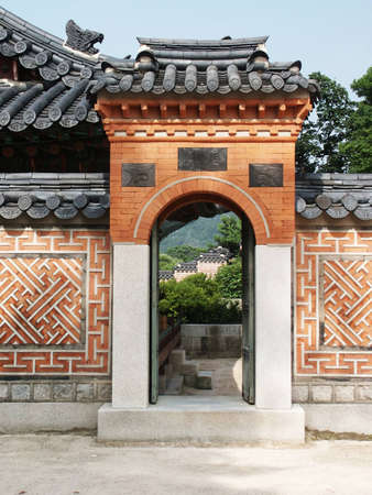One of the Gates in Changdeokgung Palace, Seoul, Korea.