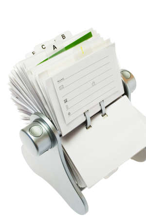casing paper: card file isolated on a white background. Stock Photo