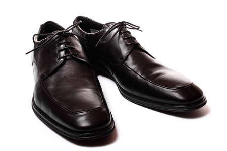 Classic black shoes.  Stock Photo