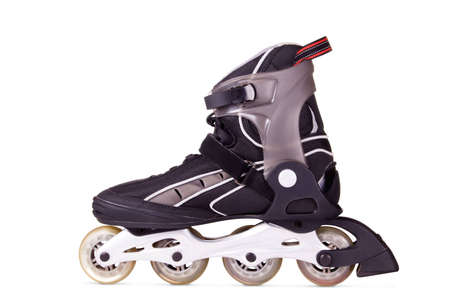 Boot for inline skating. Isolated on white background. photo